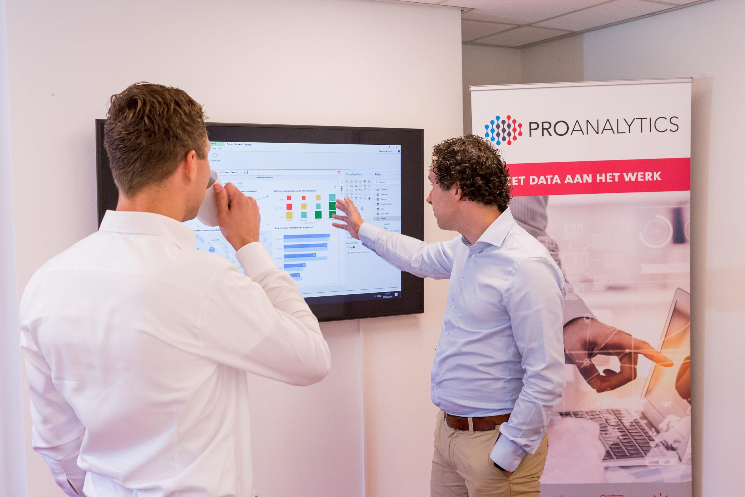 ProAnalytics analyseert data op dashboard